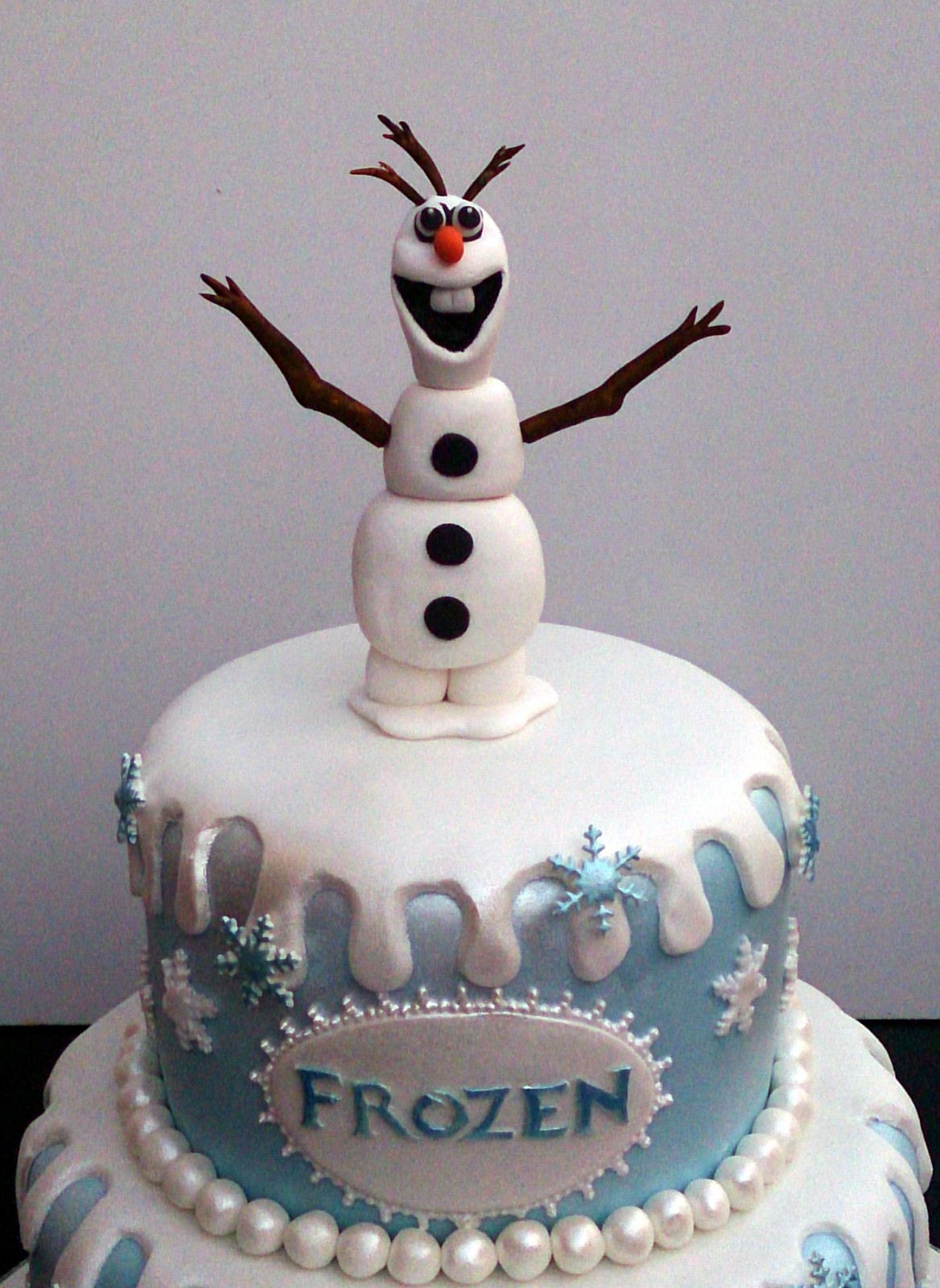 Olaf Birthday Cake Directions