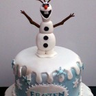 disney frozen themed birthday cake