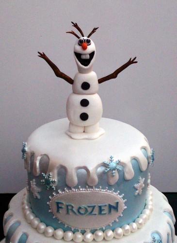 disney frozen themed birthday cake