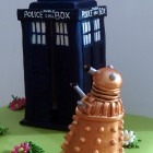dr who inspired novelty birthday cake tardis dalek