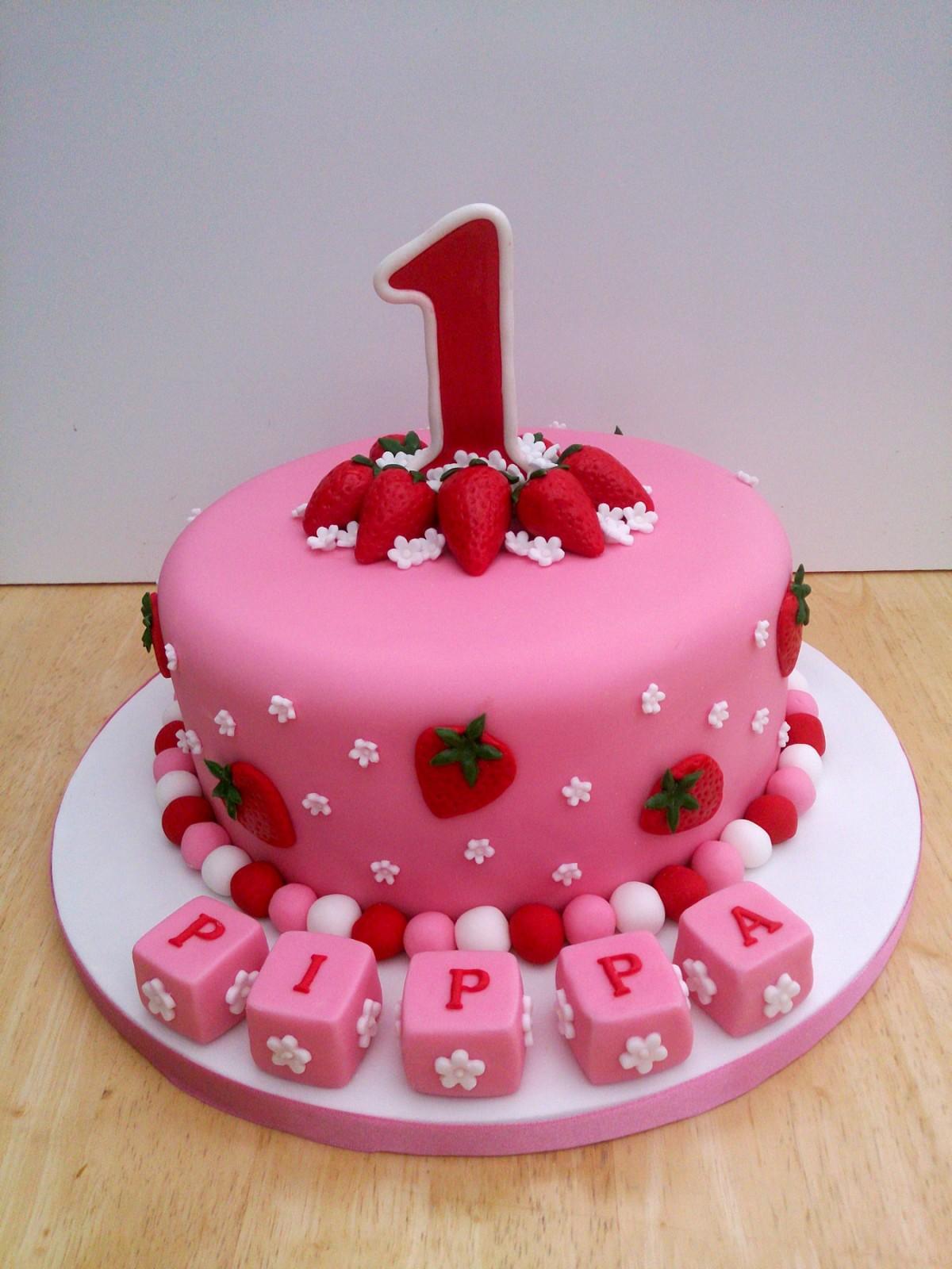 Girls St Birthday Cake Number