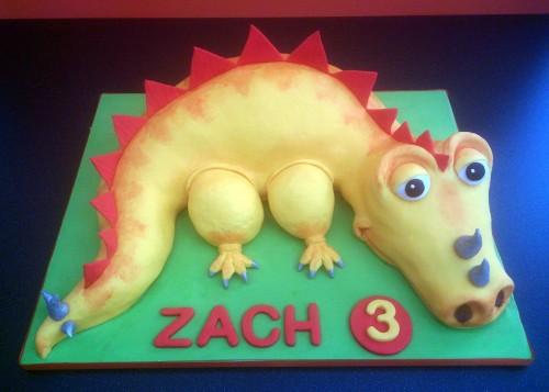colourful kids dinosaur cake