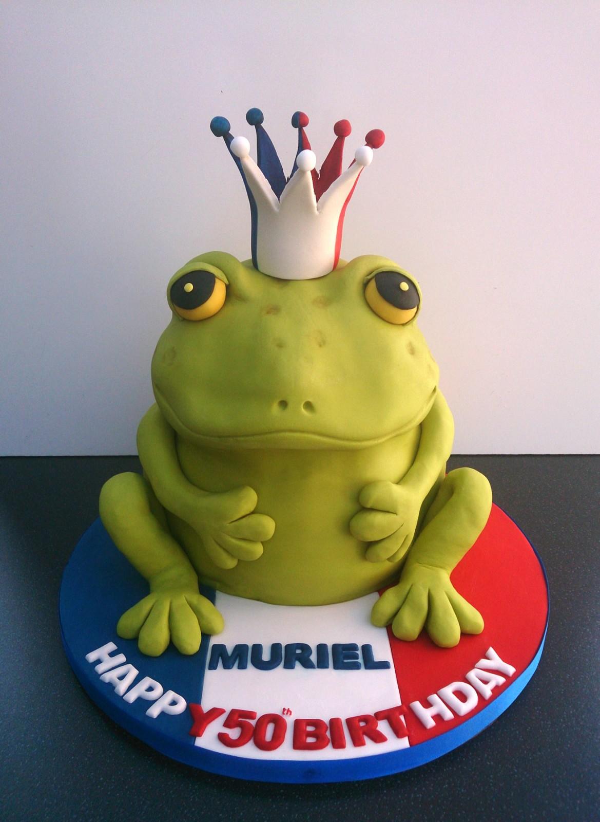Astounding French Frog Novelty Birthday Cake Susies Cakes Funny Birthday Cards Online Necthendildamsfinfo
