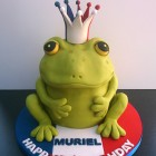 french frog novelty birthday cake