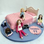 girls sleepover birthday cake poole dorset