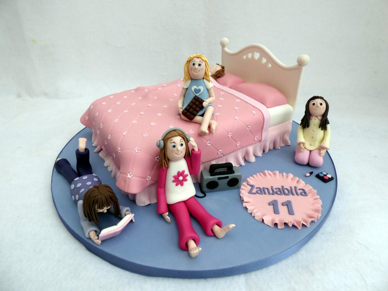 Remarkable Girls Sleepover Novelty Birthday Cake Susies Cakes Funny Birthday Cards Online Inifodamsfinfo