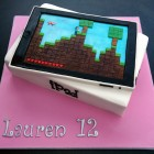 ipad novelty birthday cake with minecraft game