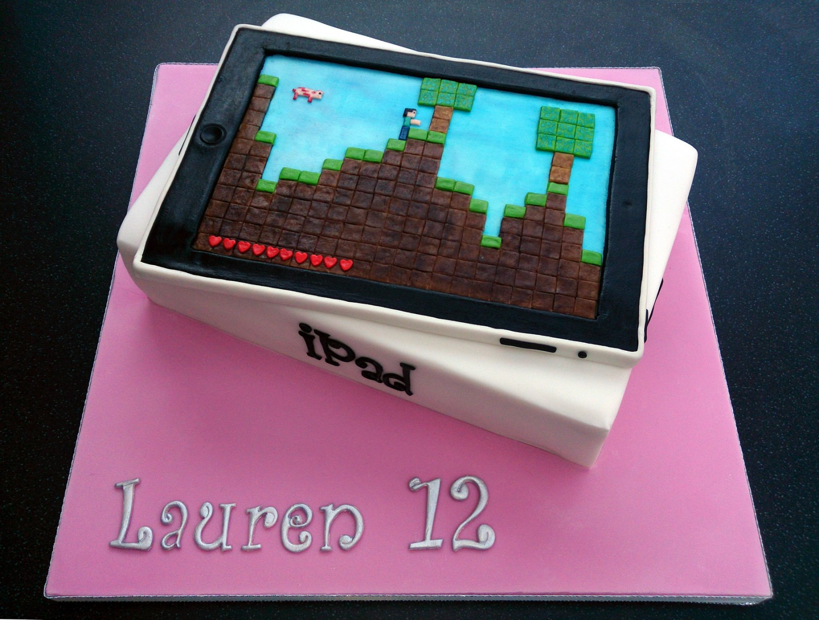Stupendous Ipad Novelty Birthday Cake With Minecraft Game Susies Cakes Funny Birthday Cards Online Alyptdamsfinfo