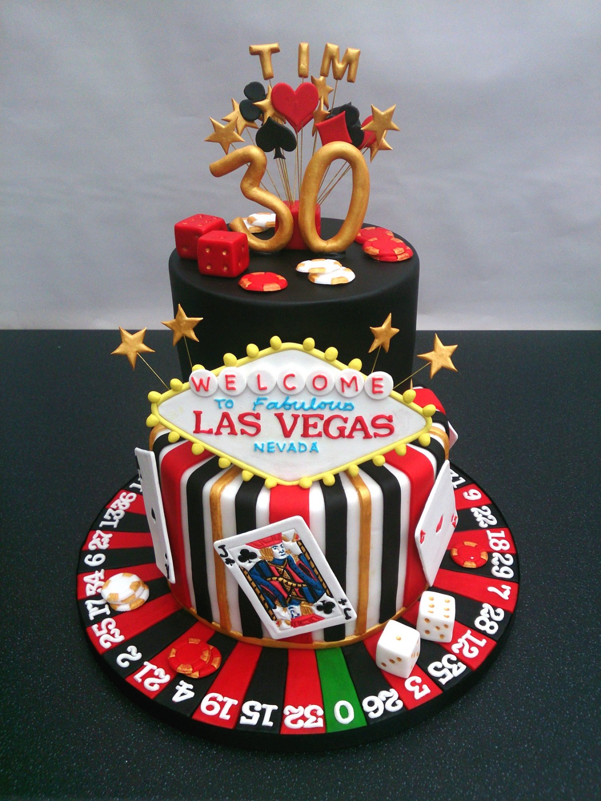 Las Vegas Gambling Themed Birthday Cake Susies Cakes