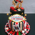 las vegas 2 tier birthday cake