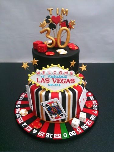 las vegas 2 tier birthday cake