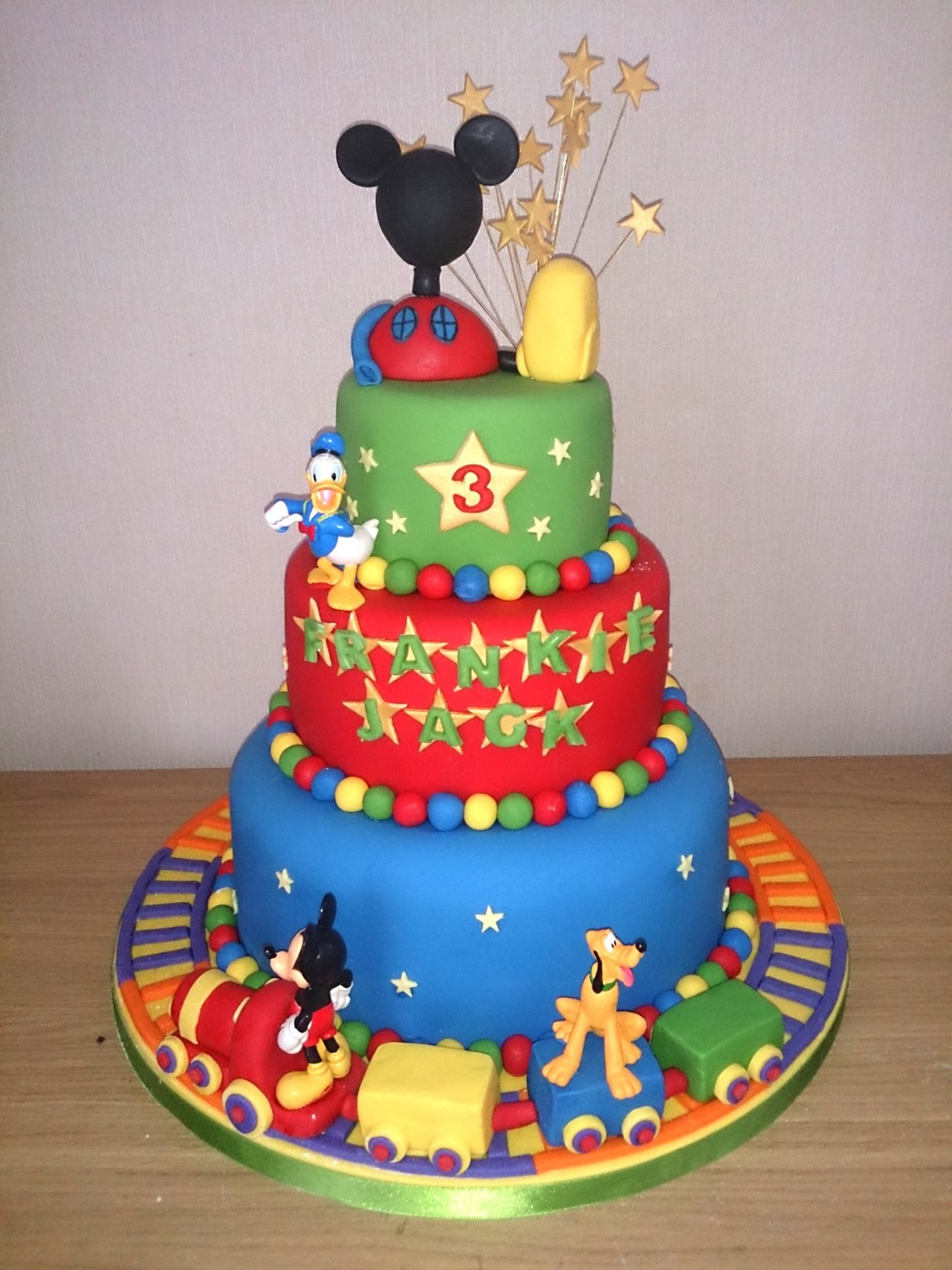 Superb Mickey Mouse Clubhouse And Friends 3 Tier Birthday Cake Susies Personalised Birthday Cards Paralily Jamesorg