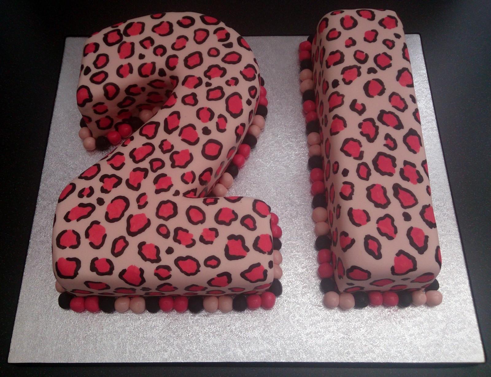 Leopard Print 21st Birthday Cake 171 Susie S Cakes