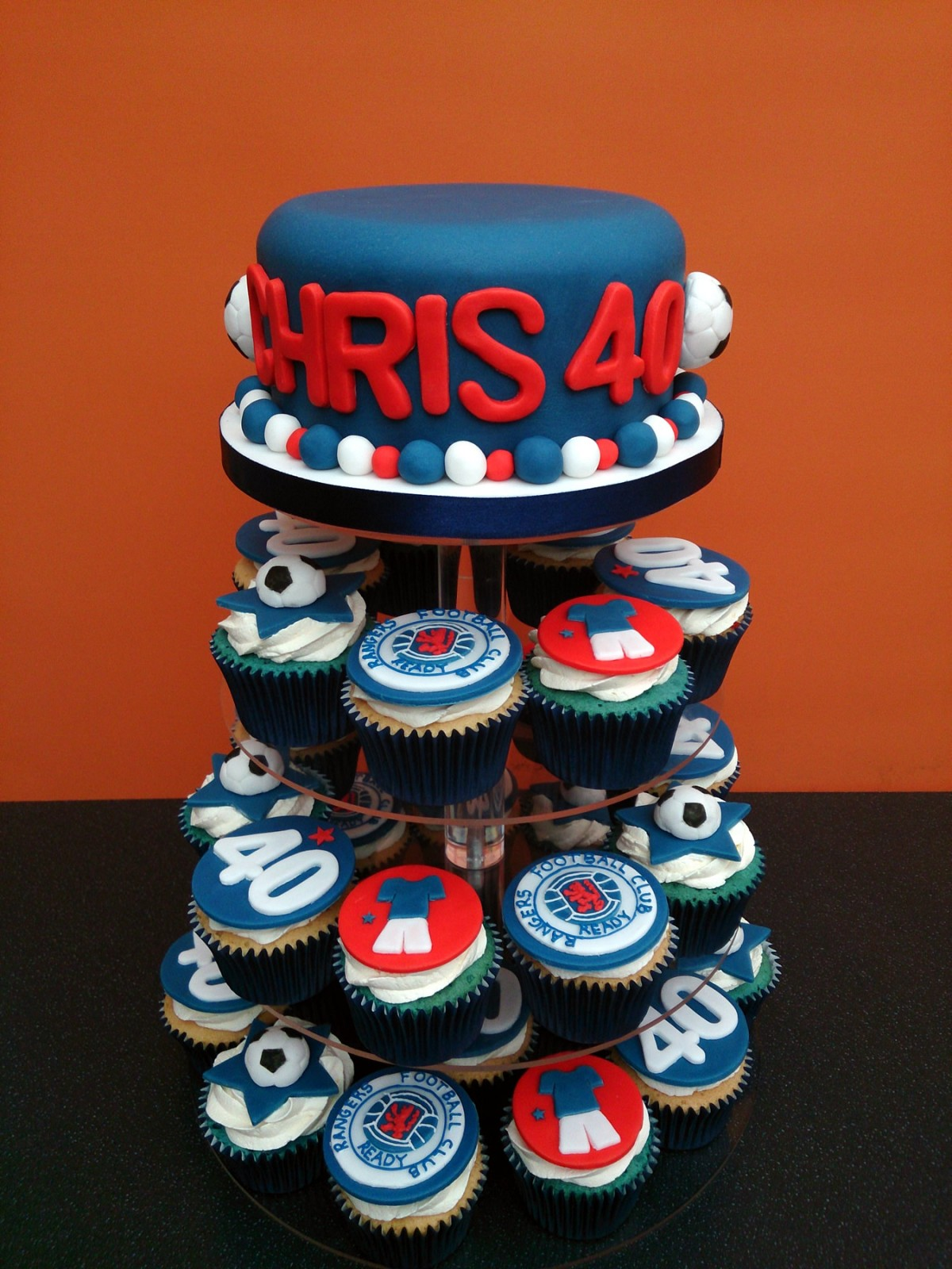 Rangers Fc Birthday Cupcakes 171 Susie S Cakes