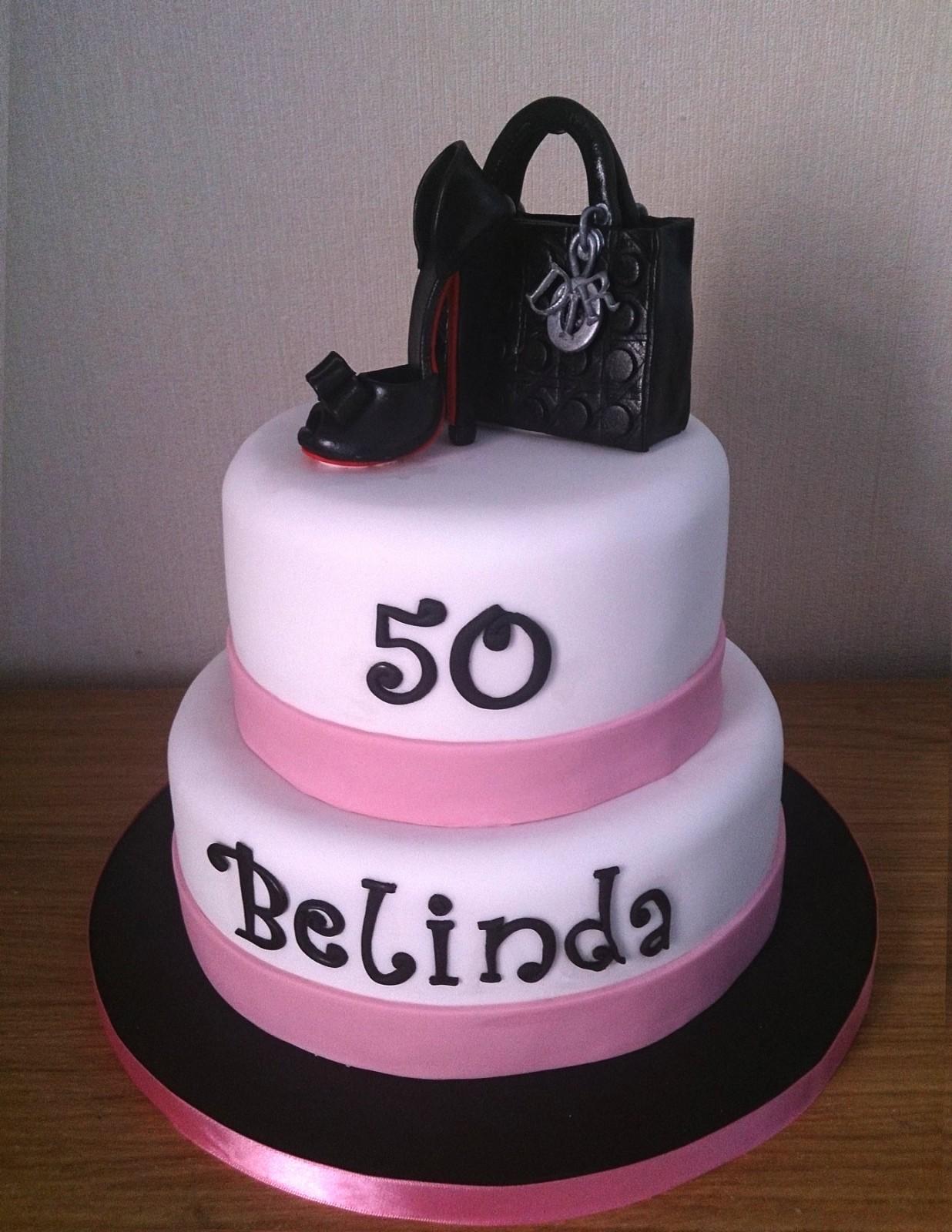 Shoe And Lady Dior Handbag 2 Tier Birthday Cake Susies Cakes