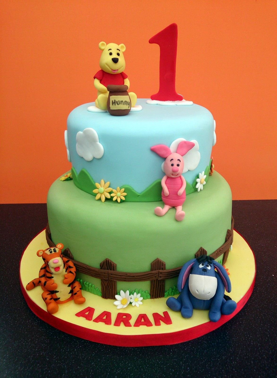 2 Tier Winnie The Pooh And Friends Cake
