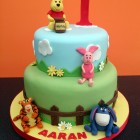 winnie the pooh and friends 2 tier birthday cake