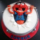 animal from the muppets drum cake
