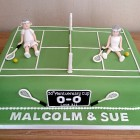 anyone for tennis novelty anniversary cake