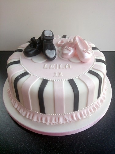 Ballet and Tap Shoes Birthday Cake