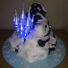 disney frozen castle with lights birthday cake