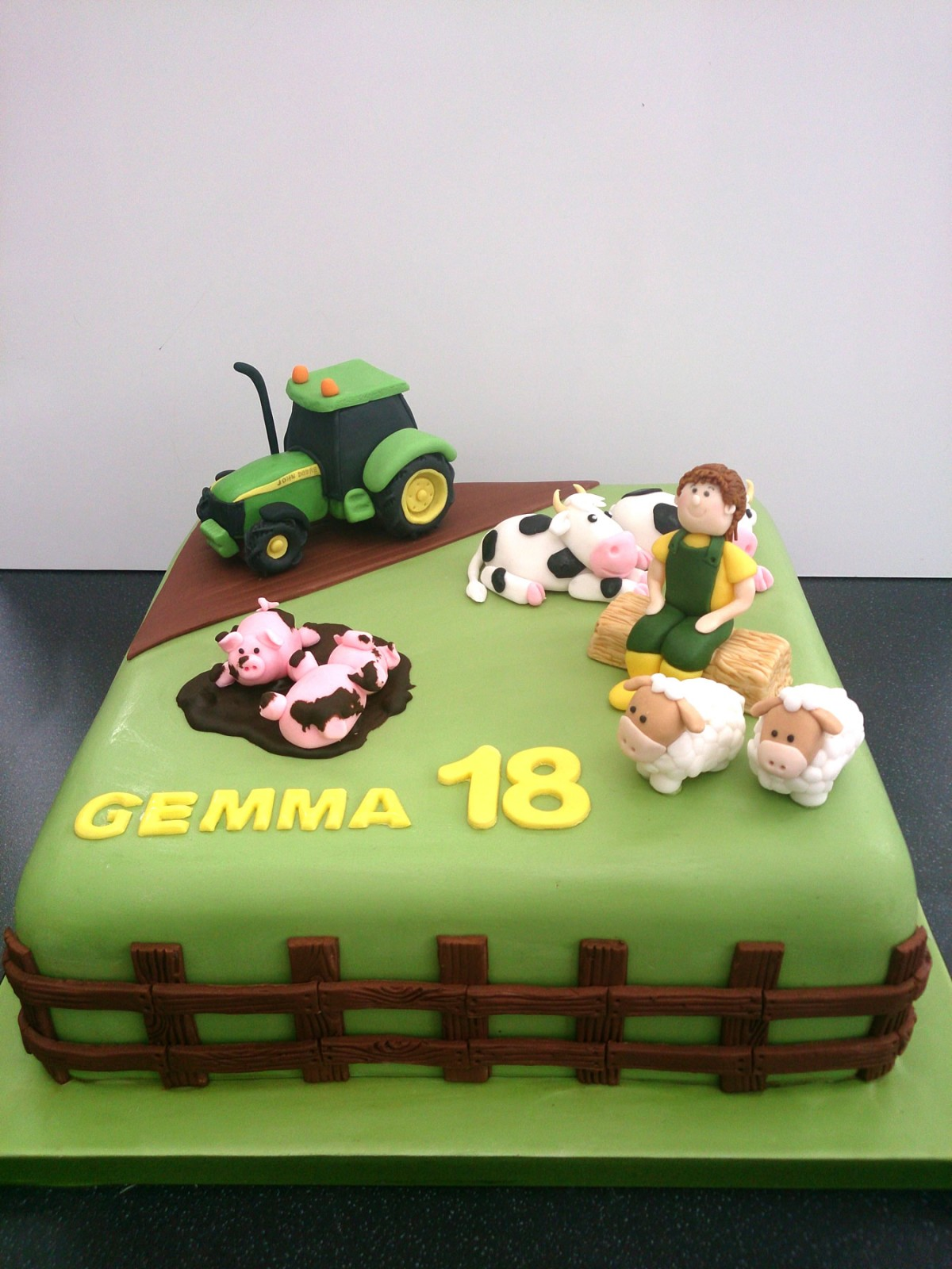 Young Farmers Novelty Birthday Cake Susies Cakes