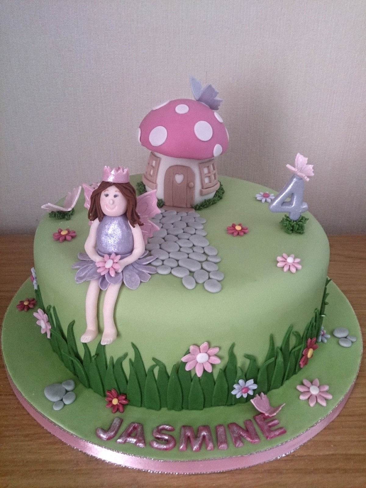 Fairy Princess Toadstool House Birthday Cake