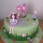 fairy princess toadstool house novelty birthday cake
