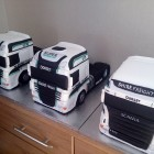 fleet of tractor units daf and scania cakes