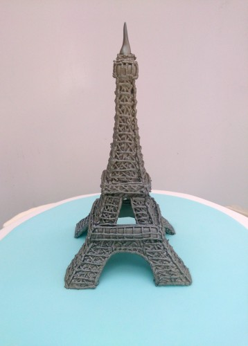paris themed novelty birthday cake