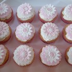 pretty floral cupcakes for a christening
