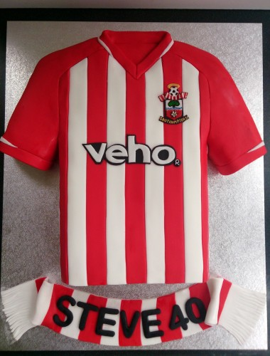 southampton saints football shirt 2014 novelty cake
