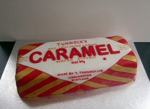 tunnocks caramel chocolate bar novelty birthday cake