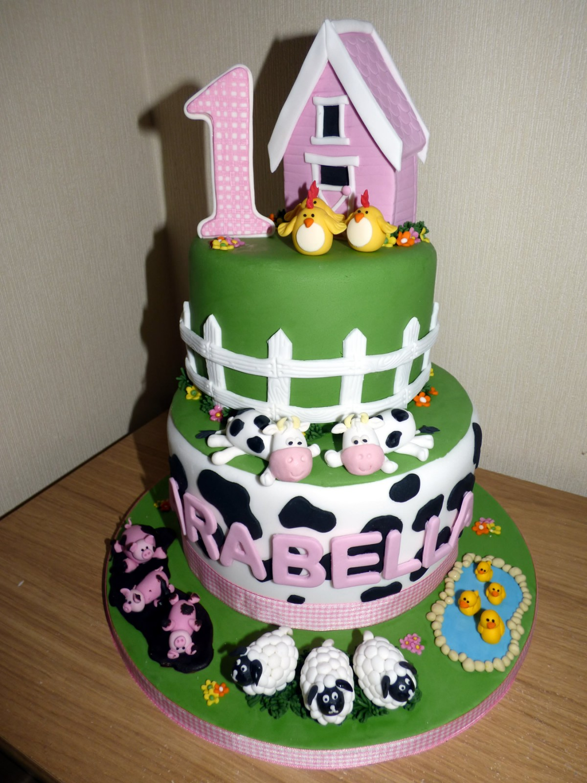 Birthday Cake Images Down : 2 Tier Down on the Farm Birthday Cake   Susie s Cakes