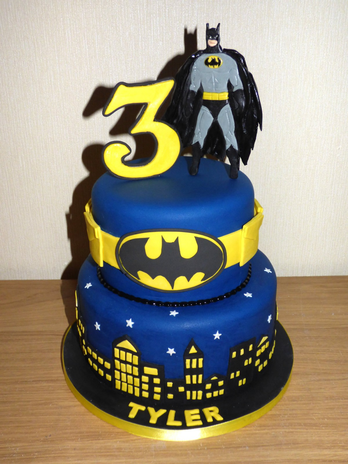2 Tier Batman Themed Birthday Cake Susies Cakes
