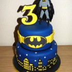 Batman Themed 2 Tier Birthday Cake