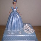 Cinderella and Tiara Birthday Cake