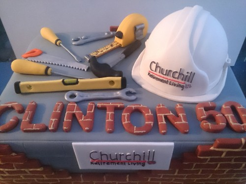 Construction Workers Themed Birthday Cake