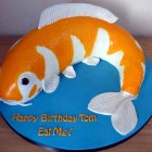 Coy Carp Novelty Birthday Cake