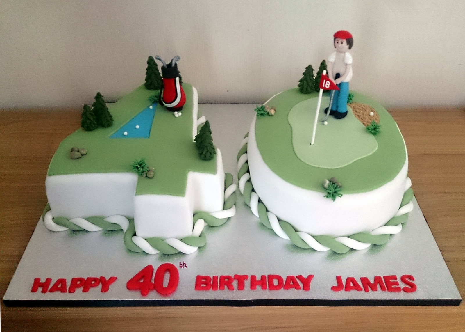Golf Themed Th Birthday Cake