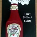 Heinz Tomato Ketchup Novelty Birthday Cake