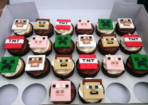 Minecraft Themed Cupcakes