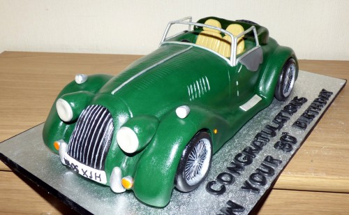 Morgan Sports Car Novelty Cake