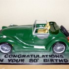 Morgan Sports Car Novelty Cake