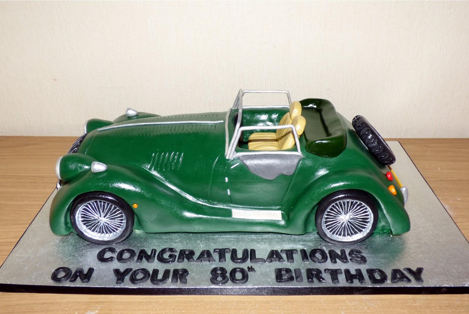 Morgan Sports Car Novelty Birthday Cake Susies Cakes