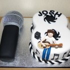 Open Mic Themed 18th Birthday Cake