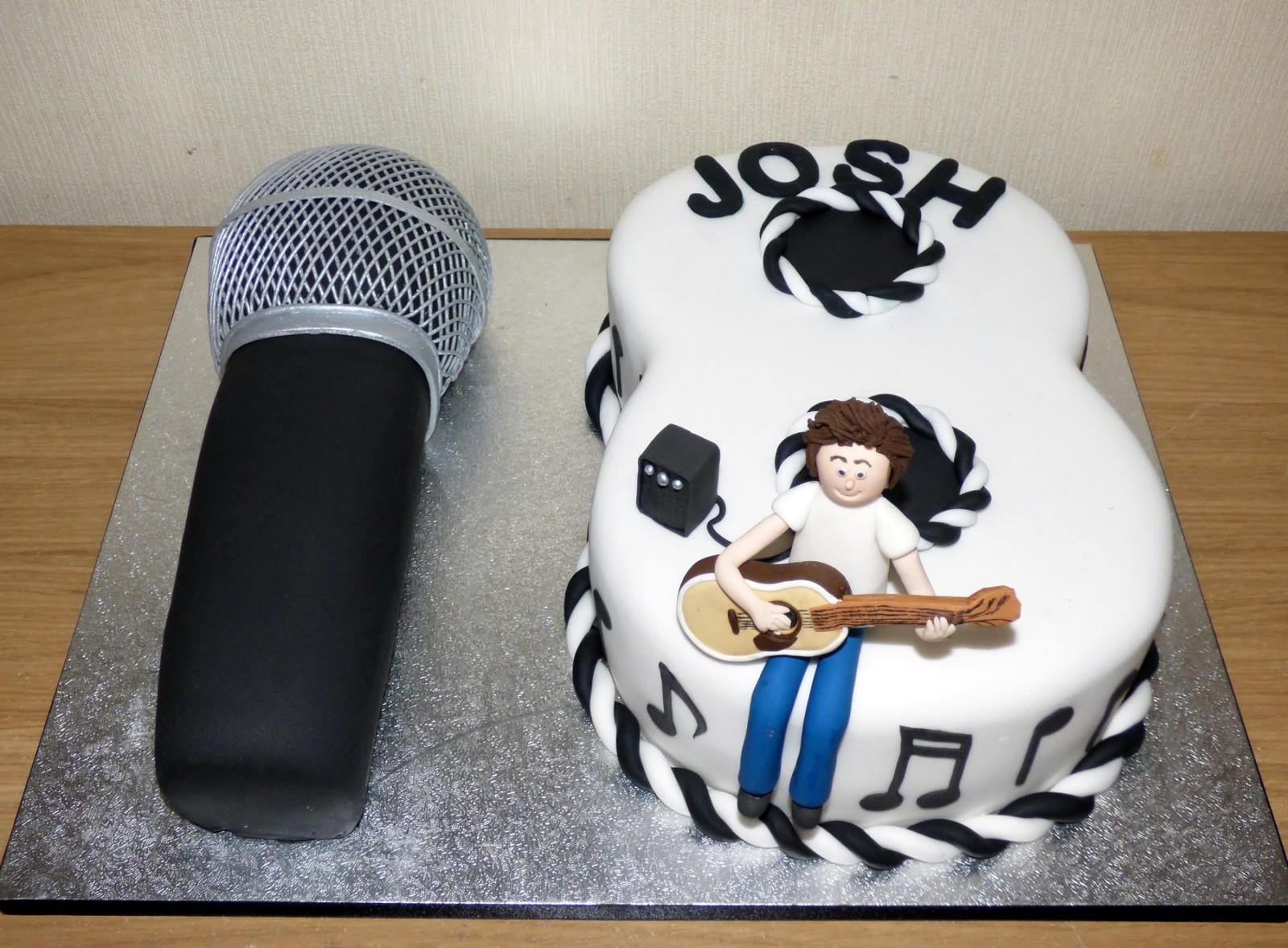 Open Mic Themed 18th Birthday Cake
