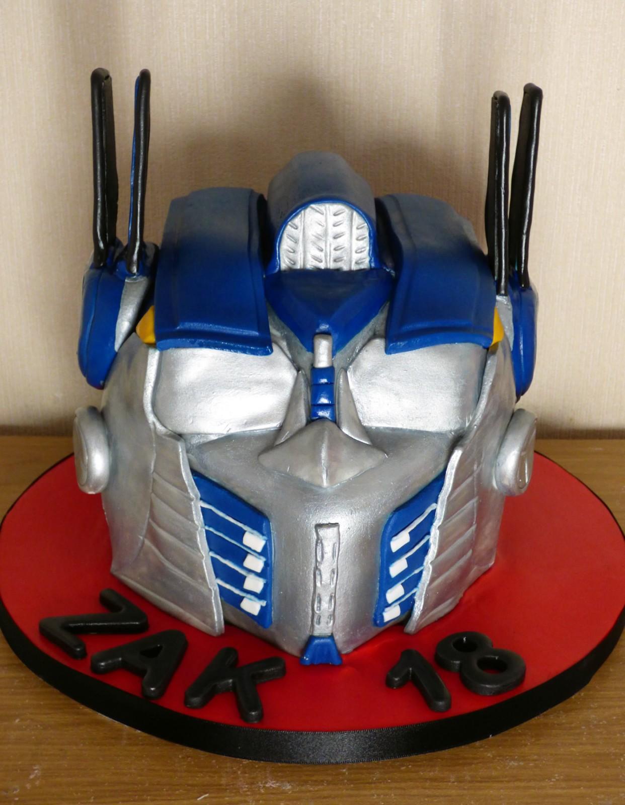 Remarkable Optimus Transformer Birthday Cake Susies Cakes Funny Birthday Cards Online Inifofree Goldxyz