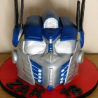 Optimus Transformer Birthday Cake