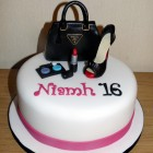 Prada Handbag, Shoe and Make-up Cake